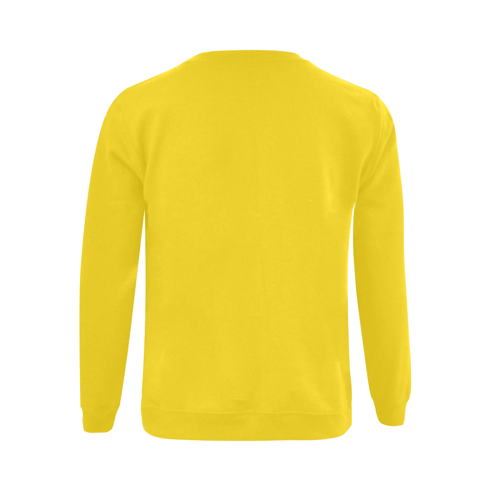 This My Color Bright Yellow Gildan Crewneck Sweatshirt(NEW) (Model H01)