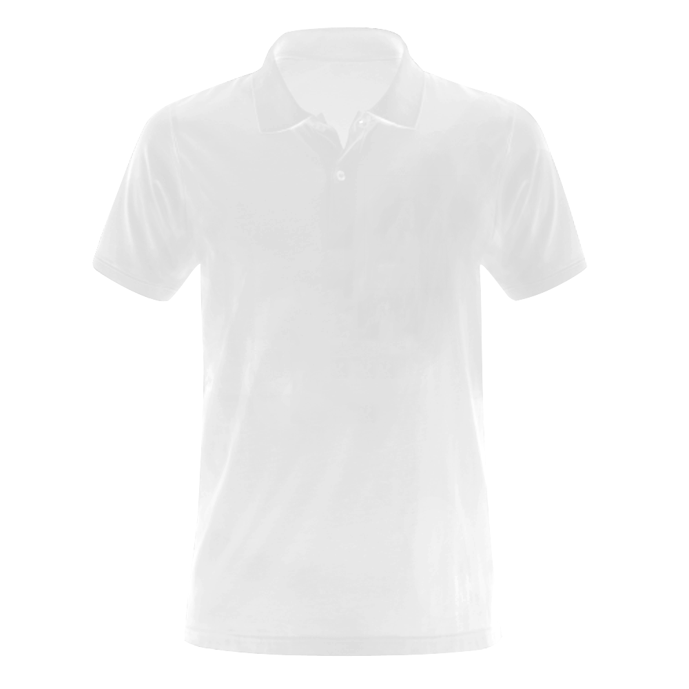 This My Color White Men's Polo Shirt (Model T24)
