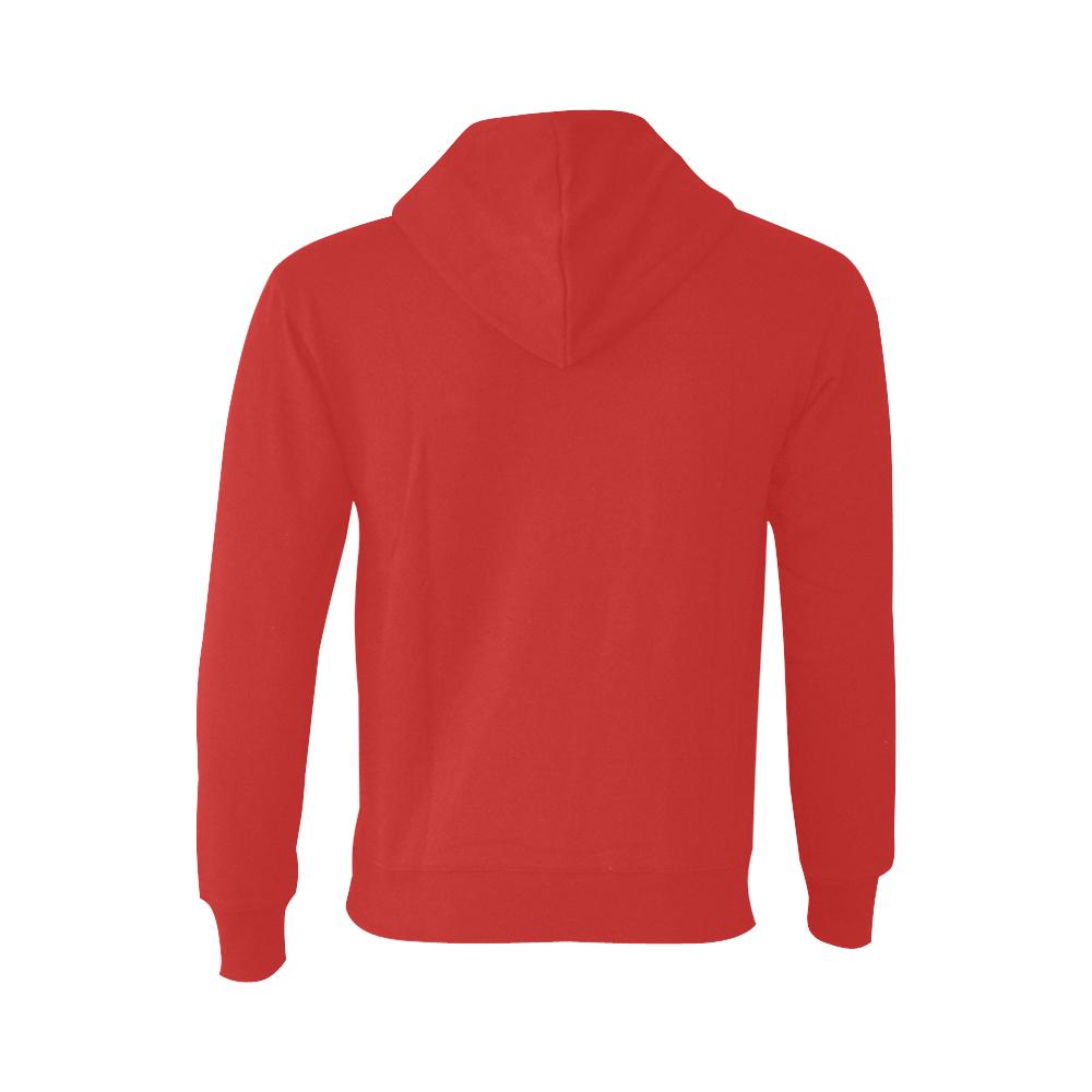 This My Color Washdown Red Oceanus Hoodie Sweatshirt (NEW) (Model H03)