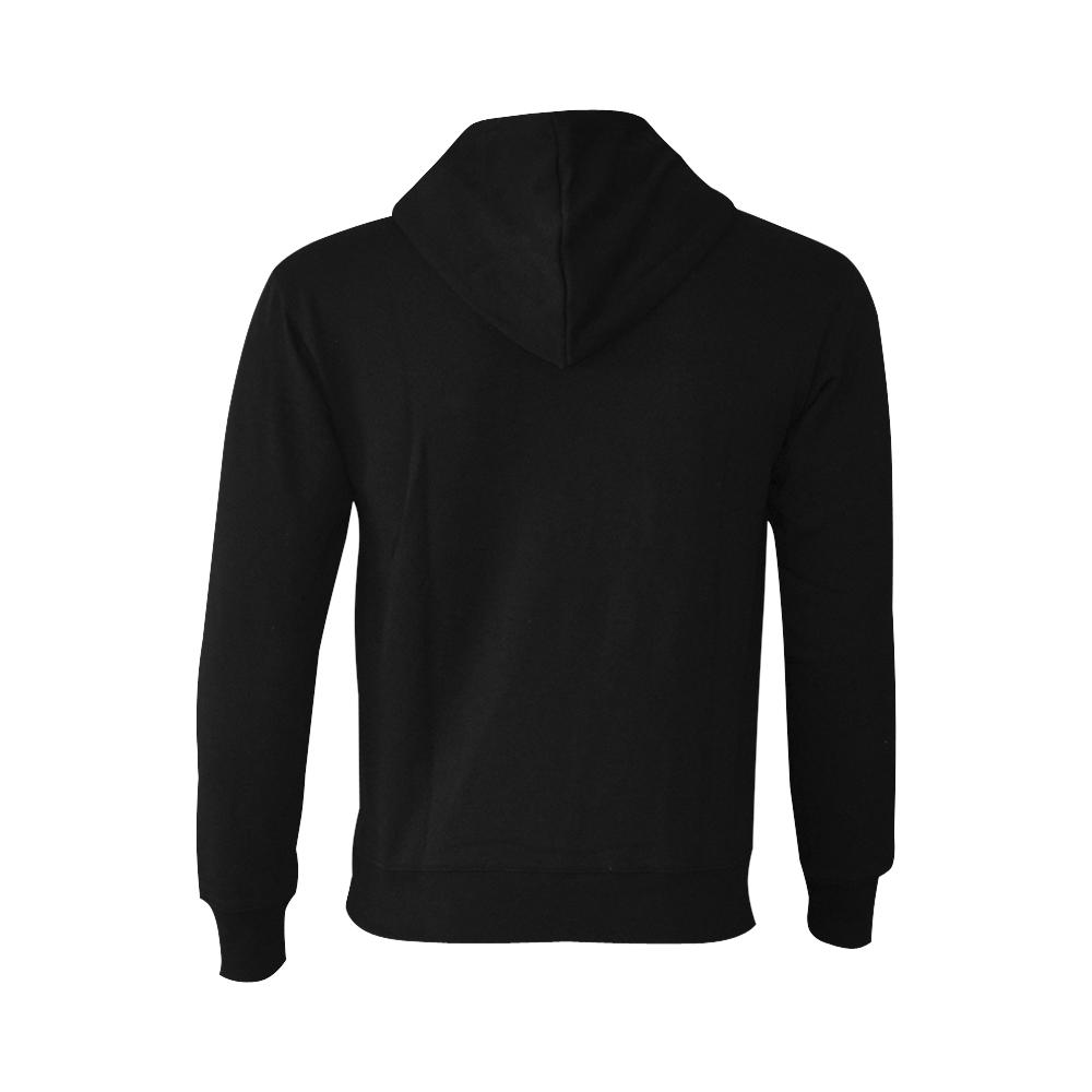 This My Color Plain Black Oceanus Hoodie Sweatshirt (NEW) (Model H03)