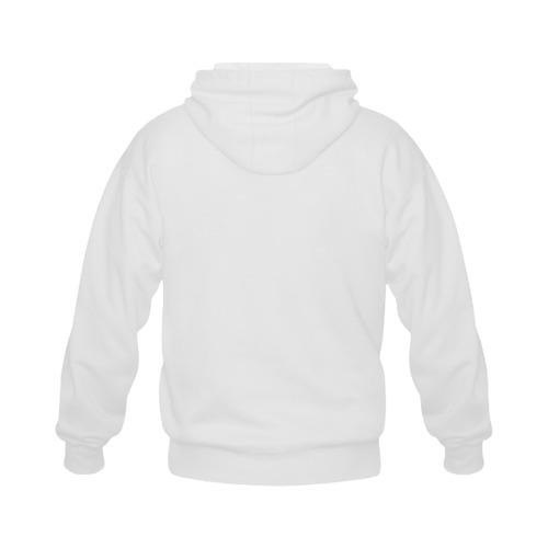 This My Color White Gildan Full Zip Hooded Sweatshirt (Model H02)