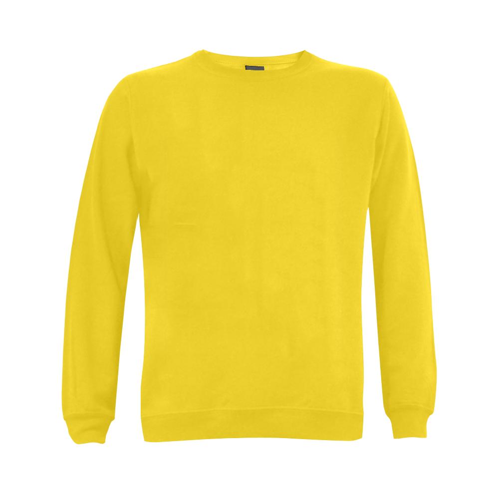 This My Color Bright Yellow Gildan Crewneck Sweatshirt(NEW) (Model H01)