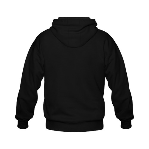 This My Color Black Gildan Full Zip Hooded Sweatshirt (Model H02)