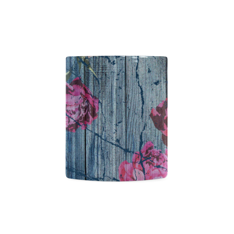 Shabby chic with painted peonies White Mug(11OZ)