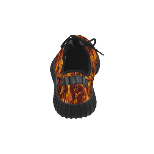 Flaming Fire  HOT STUFF! Grus Men's Breathable Woven Running Shoes (Model 022)