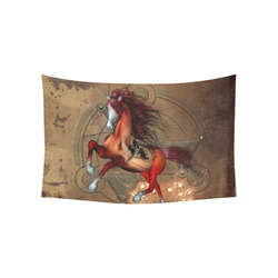 """Wonderful horse with skull, red colors Cotton Linen Wall Tapestry 60""""x 40"""""""