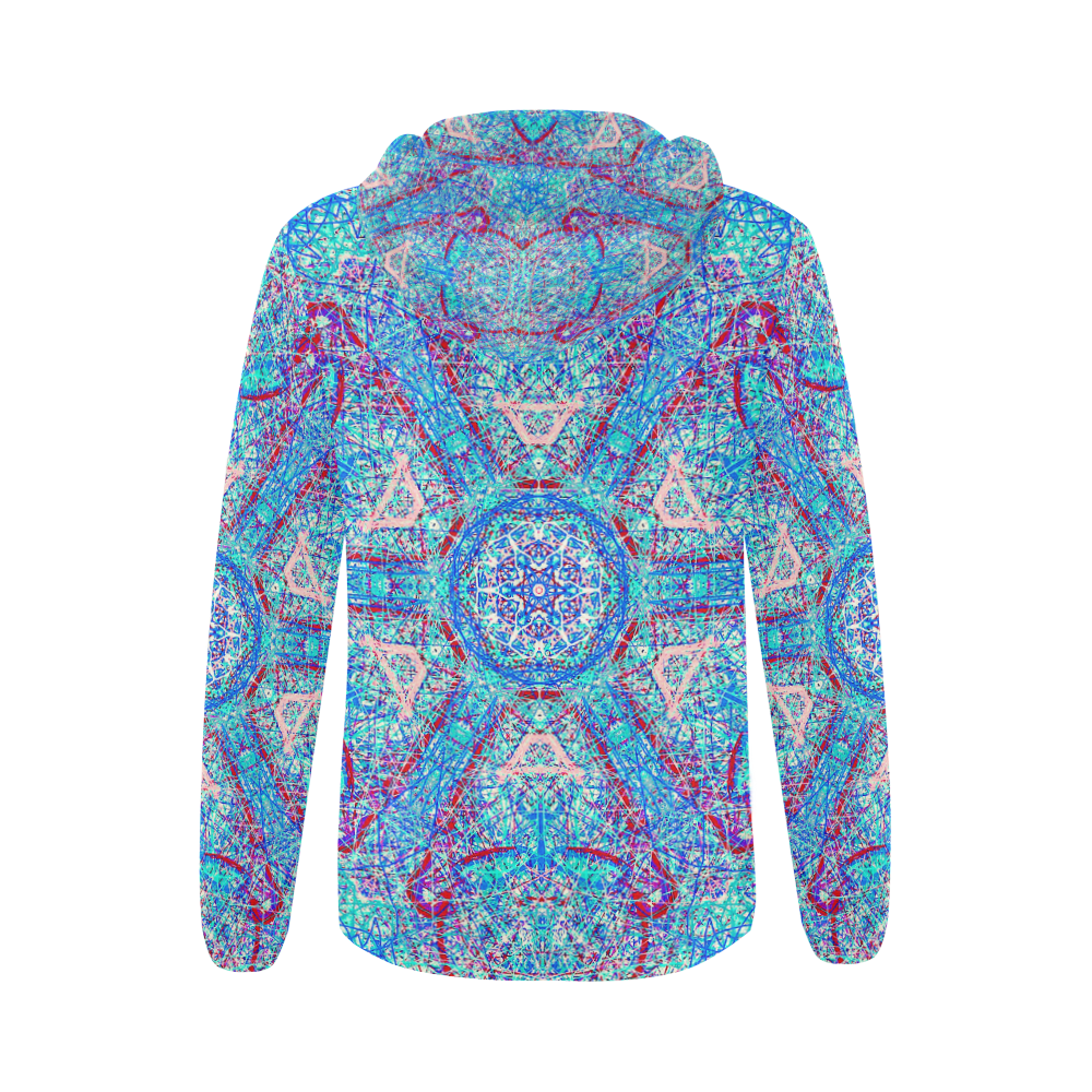 Thleudron Milkyway All Over Print Full Zip Hoodie for Women (Model H14)