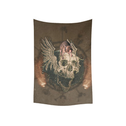 "Awesome skull with rat Cotton Linen Wall Tapestry 40""x 60"""
