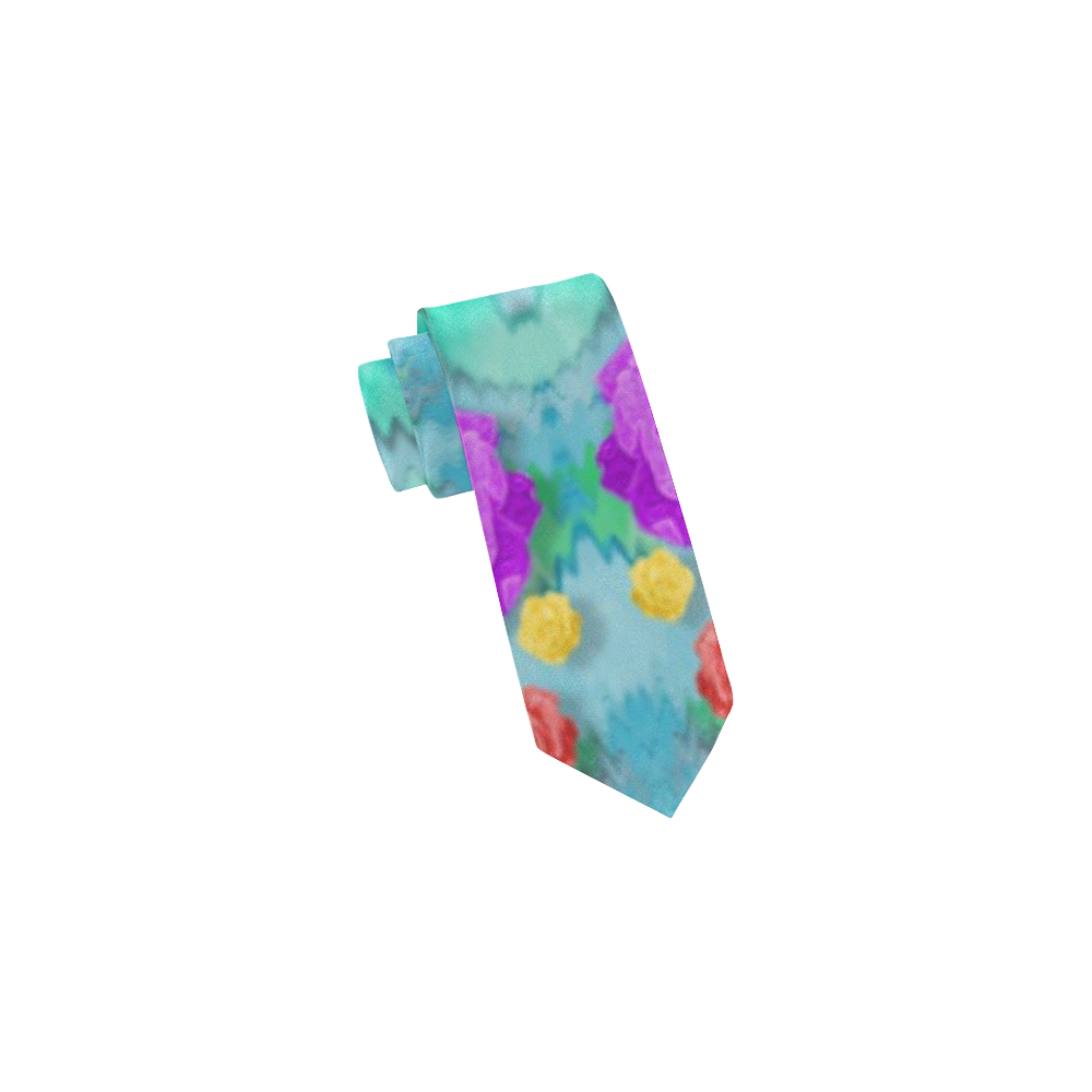 Season for roses and polka dots Classic Necktie (Two Sides)