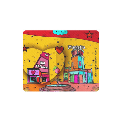 Marietta Popart 2018 by Nico Bielow Rectangle Mousepad
