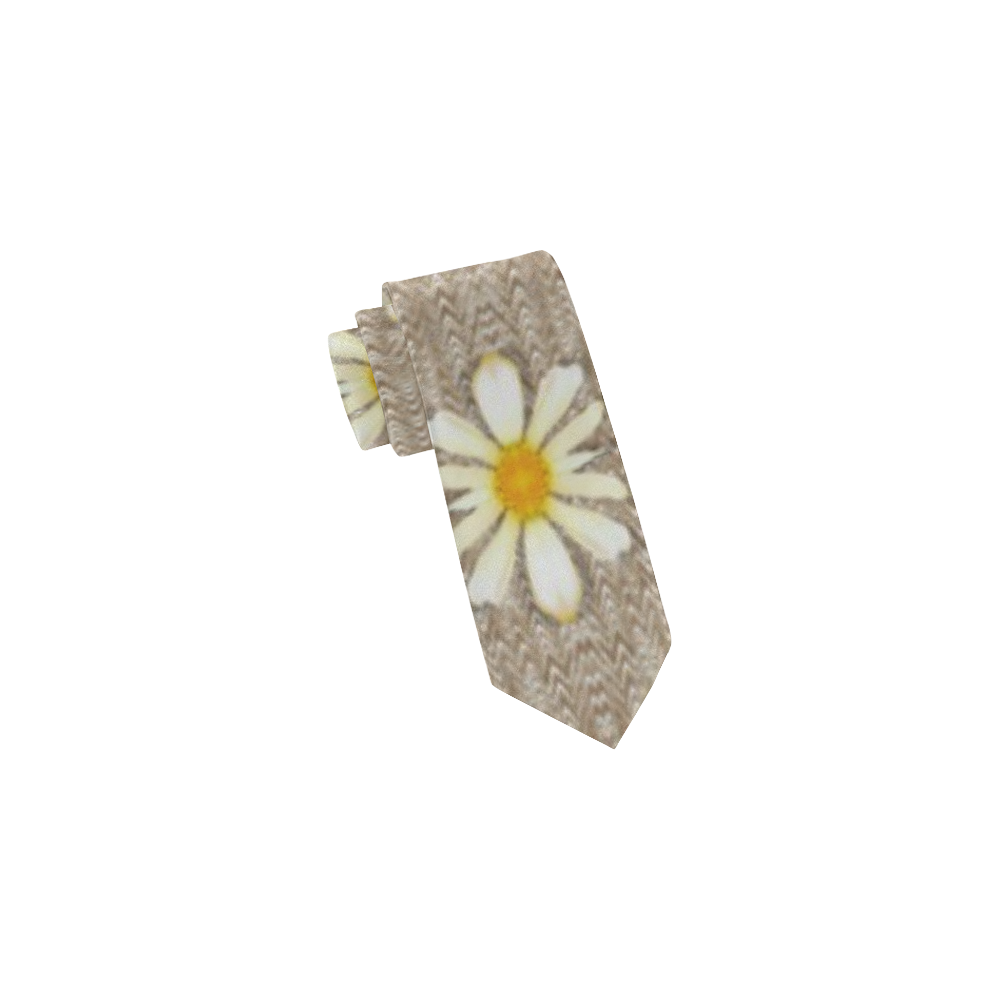 Star fall of fantasy flowers on pearl lace Classic Necktie (Two Sides)