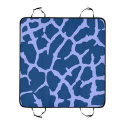 Blue Giraffe Print New Pet Car Seat 55''x58''