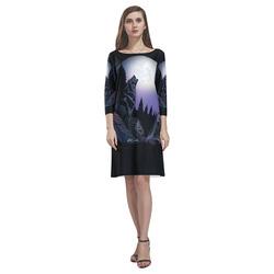 Howling Wolf Rhea Loose Round Neck Dress(Model D22)