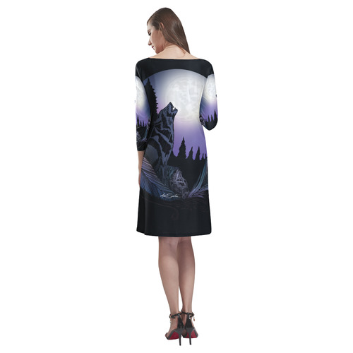 Howling Wolf Rhea Loose Round Neck Dress(Model D22)