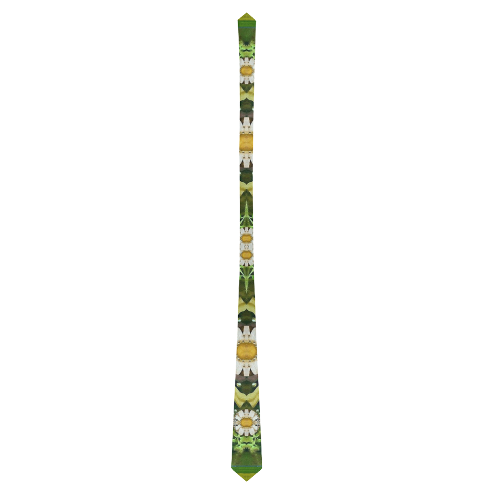 Bread sticks and fantasy flowers in a rainbow Classic Necktie (Two Sides)
