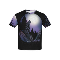 Howling Wolf Kids' All Over Print T-shirt (USA Size) (Model T40)