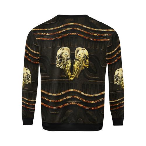 Awesome mechanical skull All Over Print Crewneck Sweatshirt for Men/Large (Model H18)