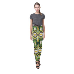 Bread sticks and fantasy flowers in a rainbow Cassandra Women's Leggings (Model L01)