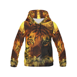 Tiger Face All Over Print Hoodie for Men (USA Size) (Model H13)