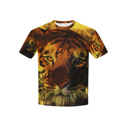 Tiger Face Kids' All Over Print T-shirt (USA Size) (Model T40)