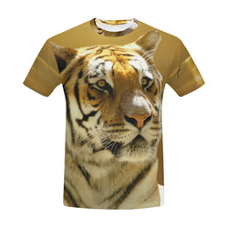 Golden Tiger All Over Print T-Shirt for Men (USA Size) (Model T40)