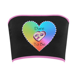 Dare to Be Rainbow Heart-purple Bandeau Top