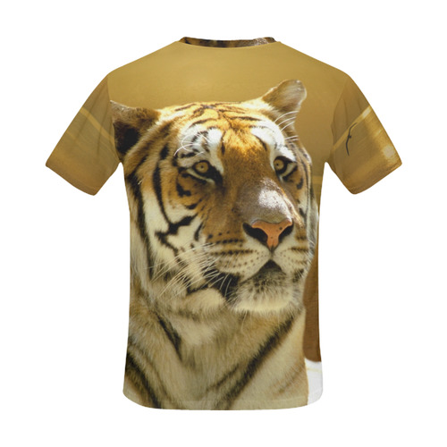 Golden Tiger All Over Print T-Shirt for Men (USA Size) (Model T40)