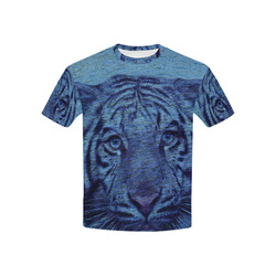 Tiger and Water Kids' All Over Print T-shirt (USA Size) (Model T40)