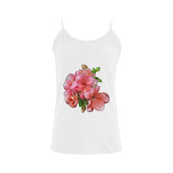 pink flower bunch Women's Spaghetti Top (USA Size) (Model T34)