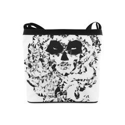 Sugar Skull Black White Low Poly Geometric Crossbody Bags (Model 1613)