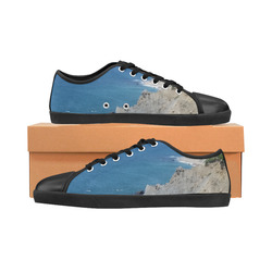 Block Island Bluffs - Block Island, Rhode Island Women's Canvas Shoes (Model 016)