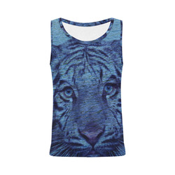 Tiger and Water All Over Print Tank Top for Women (Model T43)