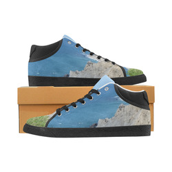 Block Island Bluffs - Block Island, Rhode Island Men's Chukka Canvas Shoes (Model 003)