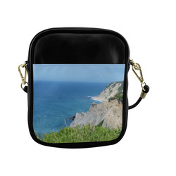 Block Island Bluffs - Block Island, Rhode Island Sling Bag (Model 1627)