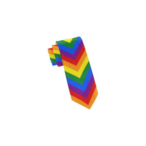 Rainbow Chevron Stripes Classic Necktie (Two Sides)