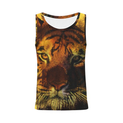 Tiger Face All Over Print Tank Top for Women (Model T43)