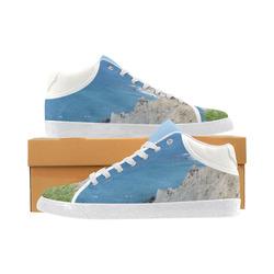 Block Island Bluffs - Block Island, Rhode Island Women's Chukka Canvas Shoes (Model 003)