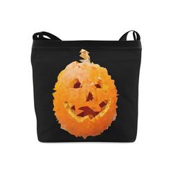 Halloween Pumpkin Low Poly Geometric Crossbody Bags (Model 1613)
