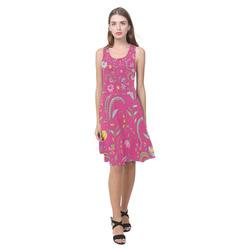 Chintz Floral Bright Pink Atalanta Casual Sundress(Model D04)