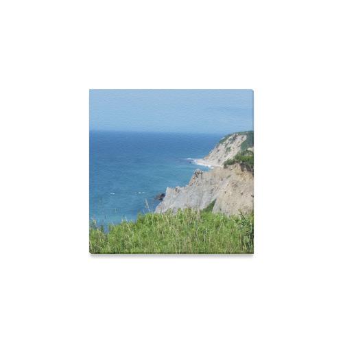 "Block Island Bluffs - Block Island, Rhode Island Canvas Print 6""x6"""