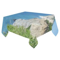 """Block Island Bluffs - Block Island, Rhode Island Cotton Linen Tablecloth 52""""x 70"""""""