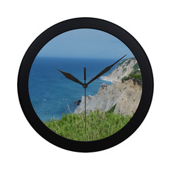 Block Island Bluffs - Block Island, Rhode Island Circular Plastic Wall clock