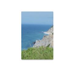 "Block Island Bluffs - Block Island, Rhode Island Canvas Print 12""x18"""