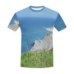 Block Island Bluffs - Block Island, Rhode Island All Over Print T-Shirt for Men (USA Size) (Model T40)