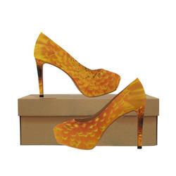Yellow Flower Tangle FX Women's High Heels (Model 044)