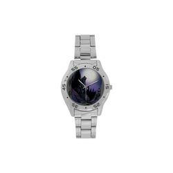 Howling Wolf Men's Stainless Steel Analog Watch(Model 108)