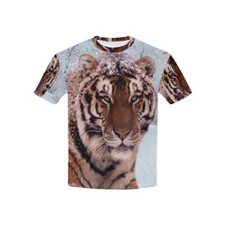Tiger and Snow Kids' All Over Print T-shirt (USA Size) (Model T40)