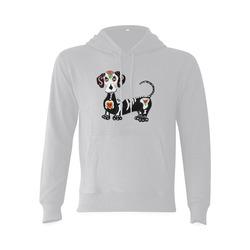 Dachshund Sugar Skull Grey Gildan Hoodie Sweatshirt (Model H03)