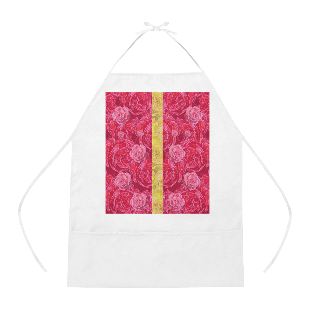 Rose and roses and another rose Cotton Linen Apron