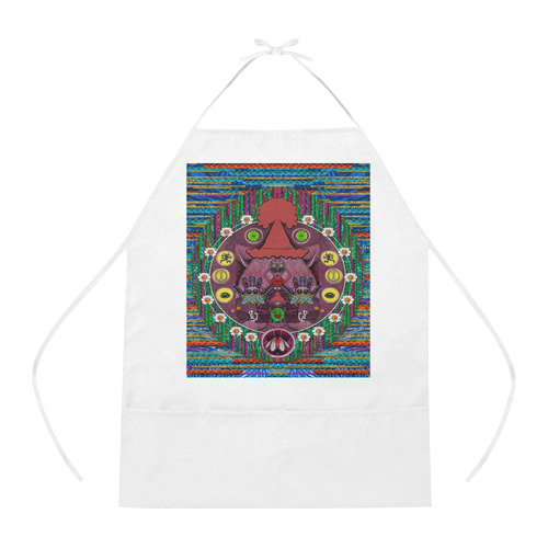 Peace In The Troll woody wood Cotton Linen Apron